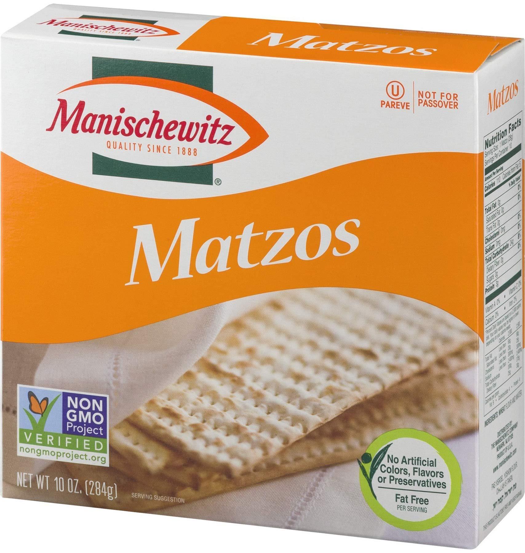 Manischewitz unsalted matzo, 10 oz (Single) by Manischewitz