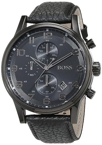 Reloj con mecanismo de cuarzo para hombre Hugo Boss 1512567, cronógrafo y correa de piel.: Hugo Boss: Amazon.es: Relojes