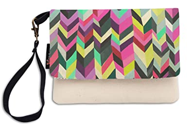 103e7575ab4 Aztec Pattern-1 Printed Canvas Clutch Purse with Wristlet Strap WAS_12