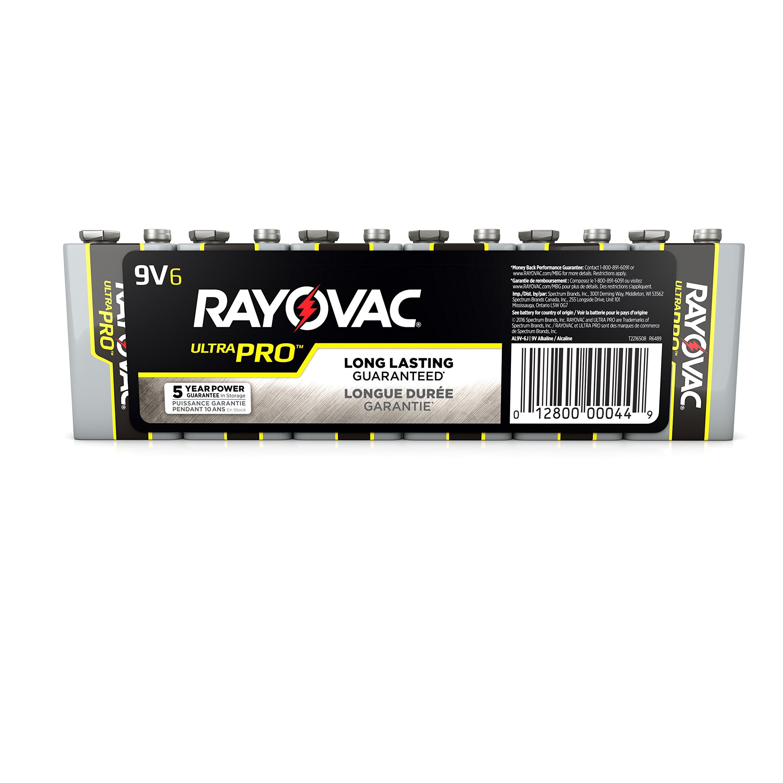 Rayovac Alkaline Battery 9 V 6 Pack