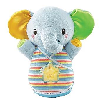 VTech-80-508622 Trompito, Elefante de Peluche para bebé, Musical, luz