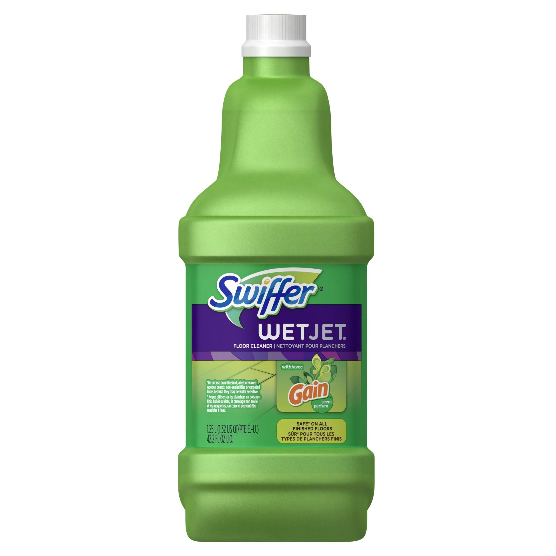 Swiffer Wetjet Multi-purpose Floor Cleaner Solution Refill Gain Scent 1.25l