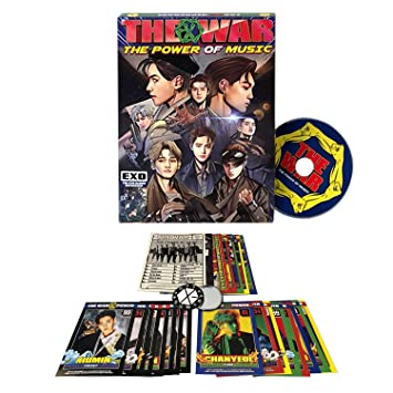 EXO 4th Repackage Korean Ver  [THE WAR The Power of Music] Album CD + Comic  book + Photo card