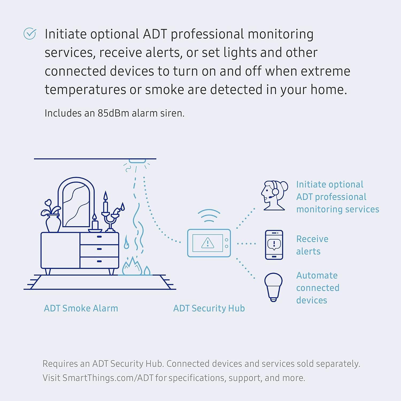 Amazon Samsung Smartthings Adt Smoke Alarm Home Improvement