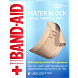 Band Aid Brand First Aid Products Water Block Sterile Non-Stick Waterproof Wound Care Pads for Minor Cut and Scrapes…