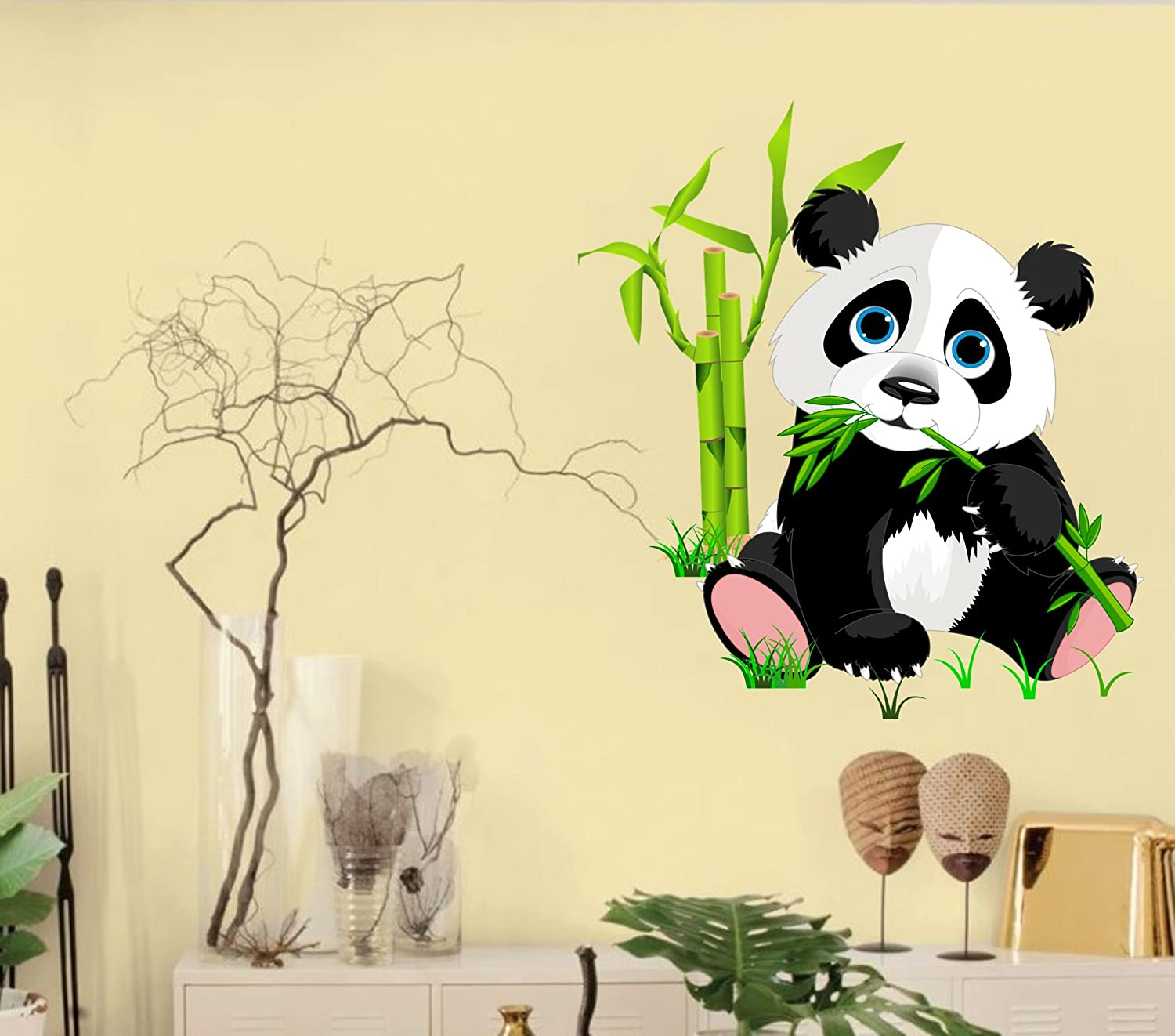 Buy Happy Walls \'Cute Little Animal Panda\' Wall Decor Wall Stickers ...