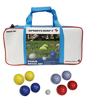 Sportcraft 90 mm moldeado Juego de bolas de petanca en bolsa ...