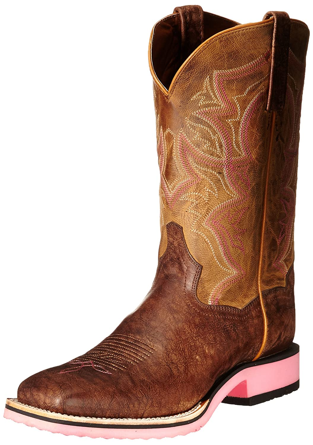 Dan Post Women's Serrano Western Boot B00QSPOIZO 10 B(M) US|Tan/Bay Apache