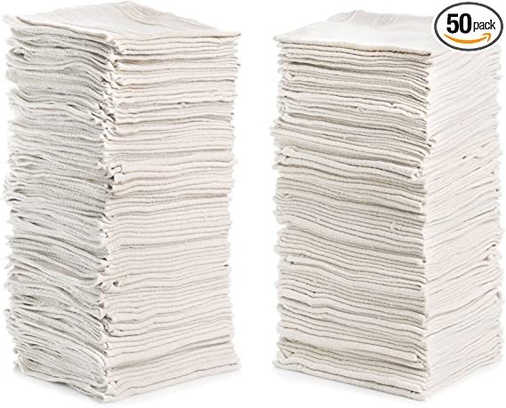 Simpli-Magic 79100 White Shop Towels Natural 50 Pack, 14 x 12