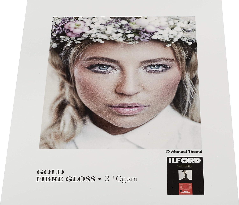 A4 Inkjetpapier ILFORD GALERIE Gold Fibre Gloss 310GSM Tintenstrahldruckerpapier 25 Blatt GPGFG Fotopapier