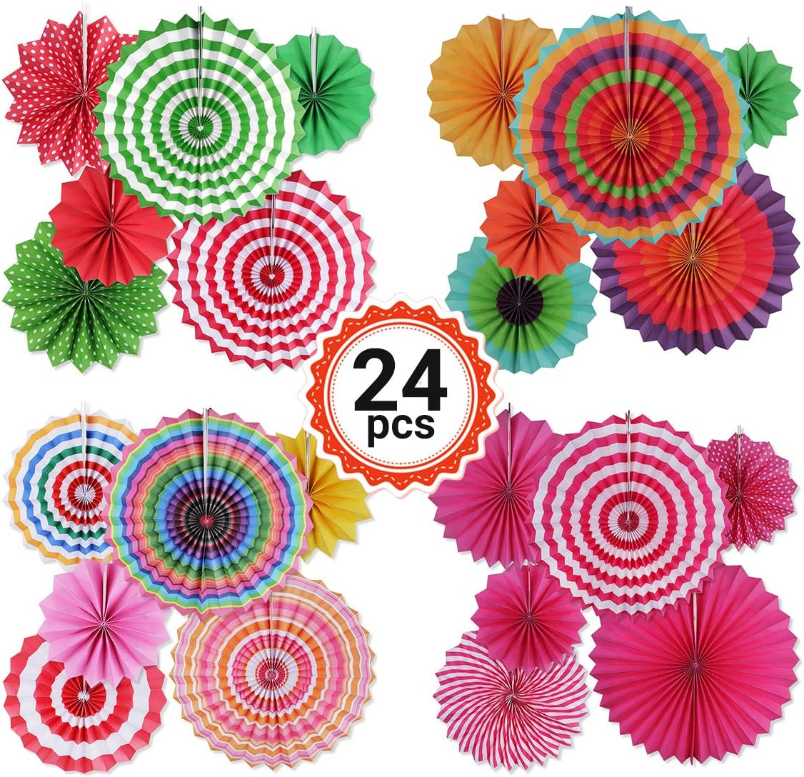 YSBER 24 Pieces Paper Flower - Artificial Flowers/Tissue Paper Flowers Decorations for Baby Shower Birthday Party Wall Background Decoration