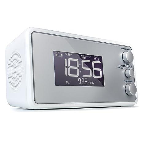 AudioAffairs - Radio despertador con altavoz PLL UKW, con 2 ...