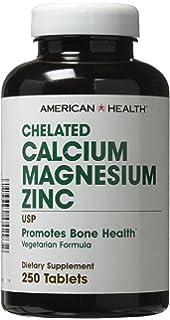 El calcio quelado de magnesio de zinc, 250 tabletas - Salud