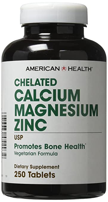 American Health Calcium Magnesium Zinc Tablets 250 Count