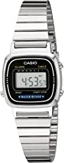 Casio LA670WA-1 Casio Plata y Negro Reloj Digital Ladies