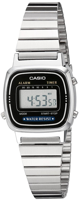 Casio LA670WA-1 - Reloj para Hombres, Correa de Acero Inoxidable ...