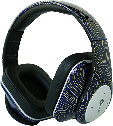 Life n Soul BN350-BUWV After Romeo Bluetooth Headphones, Blue Wave