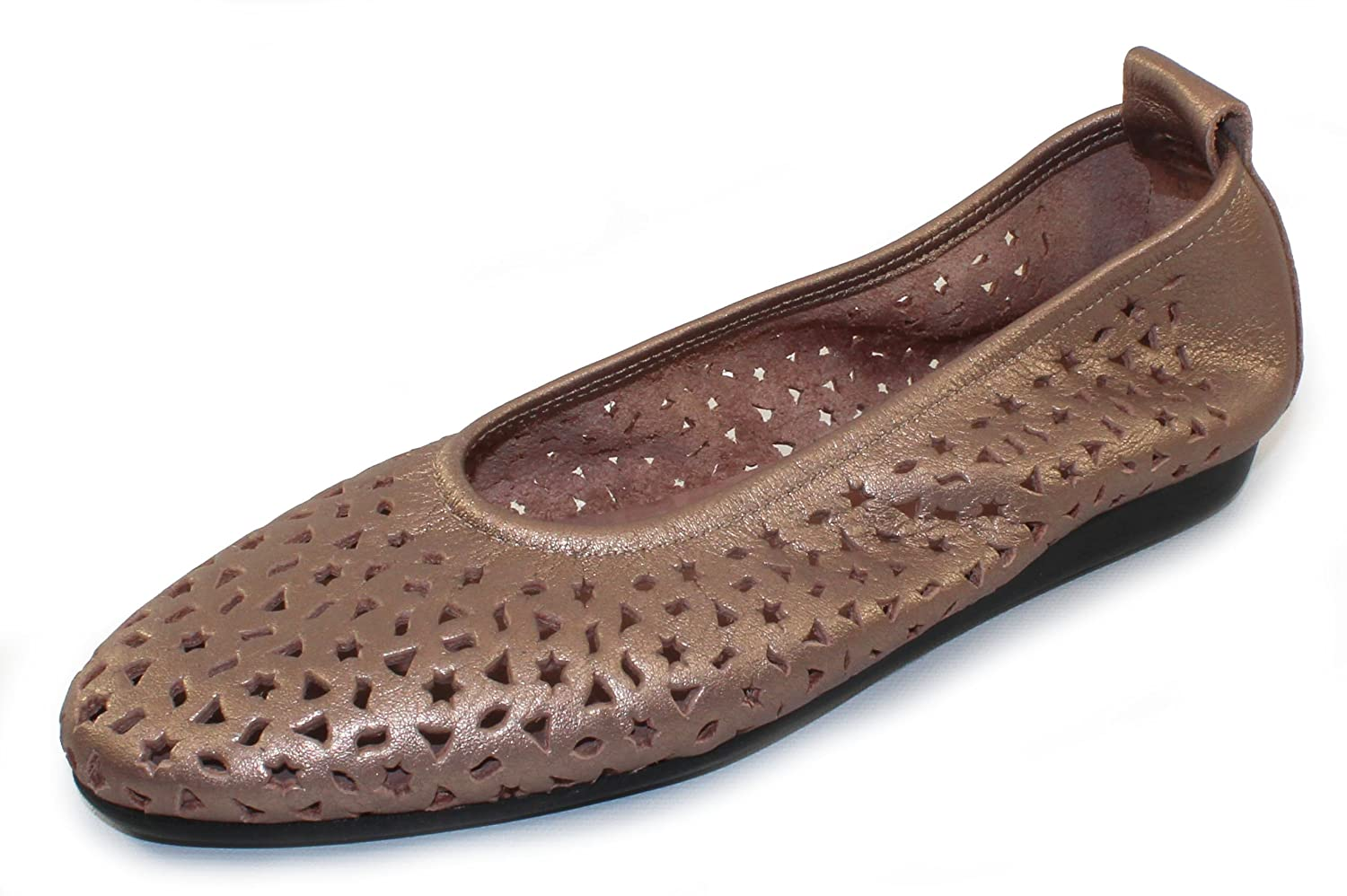 Arche Women's Lilly In Antico Fast Metal Pearlized Leather - Metallic Blush - Size 38 M