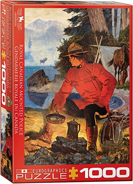 EuroGraphics EURHR Rcmp Morning Campfire 1000Piece Puzzle 1000Piece Jigsaw Puzzle Eurographics - Toys 6000-5352