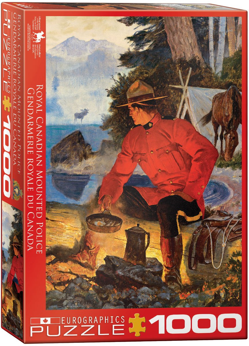 EURHR Rcmp Morning Campfire 1000Piece Puzzle 1000Piece Jigsaw Puzzle Eurographics - Toys 6000-5352 EuroGraphics
