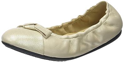 Geox Damen D Lola 2FIT A Geschlossene Ballerinas, Gold (LT GOLDC2012), 36