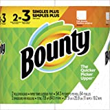 Bounty Paper Towels, White 2 Single Plus Rolls = 3 Regular Rolls, 2 count