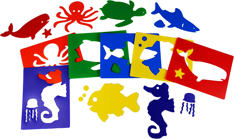Henbea- Plantillas con Formas de Animales del mar, Multicolor (834 ...