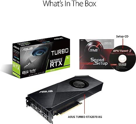 Amazon.com: ASUS GeForce RTX 2070 - Tarjeta gráfica ...