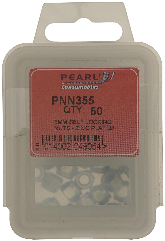Pearl PNN355 dadi autobloccanti M5 (confezione da 50) Pearl Automotive Limited
