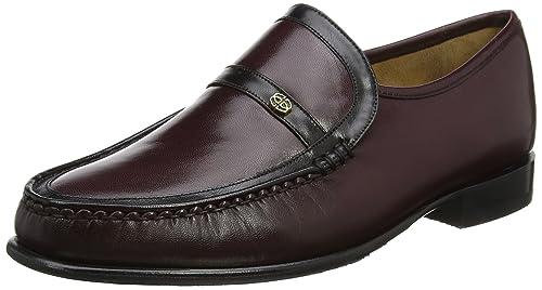 Barker Jefferson, Mocasines para Hombre, Morado (Bugundy/Black Kid 77), 44 EU: Amazon.es: Zapatos y complementos