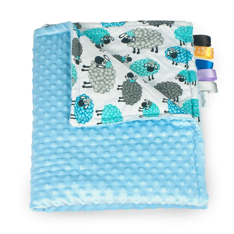 1buy3 Minky Manta Forrada para beb/é Manta de Felpa Manta calentita 100 x 160 cm Manta para beb/és Rosa + Corazones