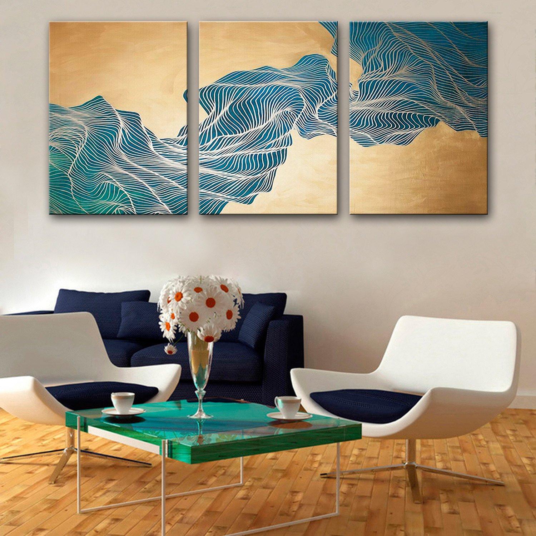 TT&ZHUANGSHI Ölgemälde Moderne abstrakte grüne Stein Berg reine Hand zeichnen Frameless dekorative Malerei , 40603