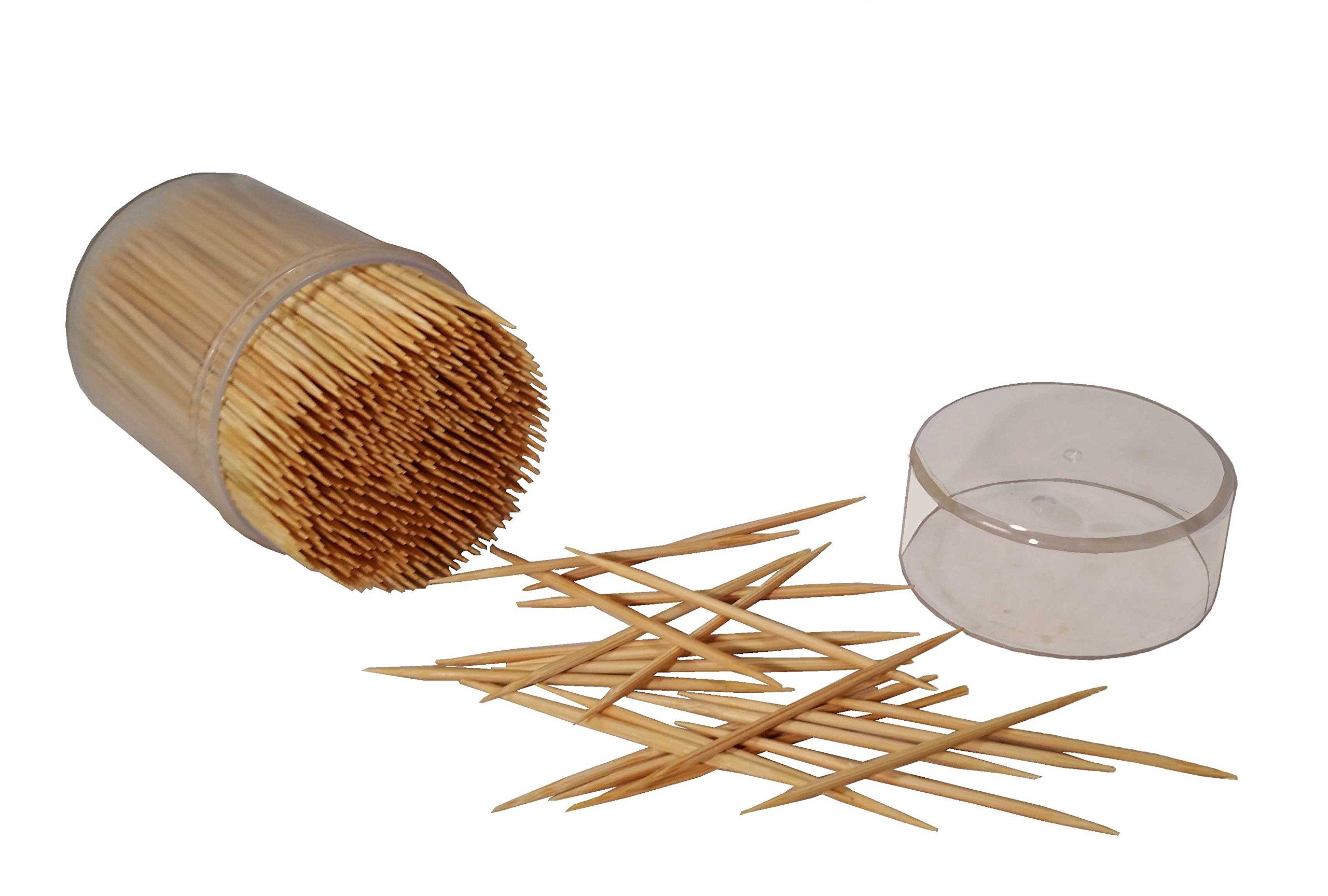 MontoPack Bamboo Wooden Toothpicks 4 X 500 (2000pcs) by MontoPack