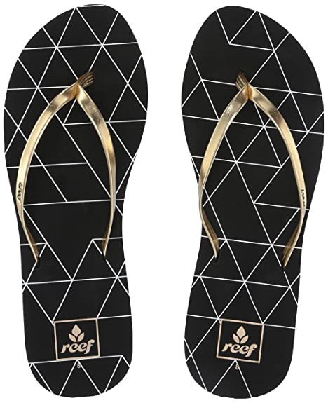 e5dda221bbf8 Reef Women s Bliss-Full Flip-Flop Gold Pyramids 050 ...