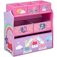 Delta Children Design & Store 6 Bin Toy Storage Organizer, Peppa Pig, Peppa Pig Unicorn (TB87230PG-1171)