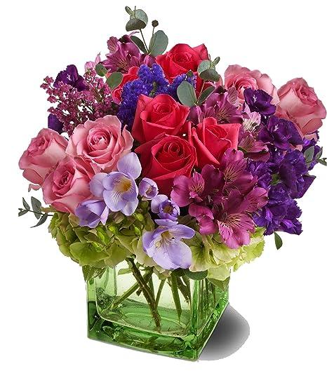 Amazon Spring Beauty Flower Arrangement Premium By Plaza