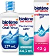 Biotene Dry Mouth Management Oral Rinse Dry Mouth Spray and Moisturizing Gel Kit, 1 Count