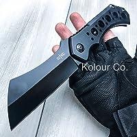 """Only US 10"""" Huge Cleaver Ball Bearing Assisted Pocket Folding Knife Razor Blade Black"""