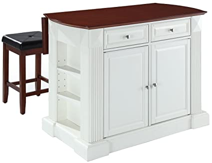 Amazoncom Crosley Furniture Kf300075wh Drop Leaf Kitchen Island