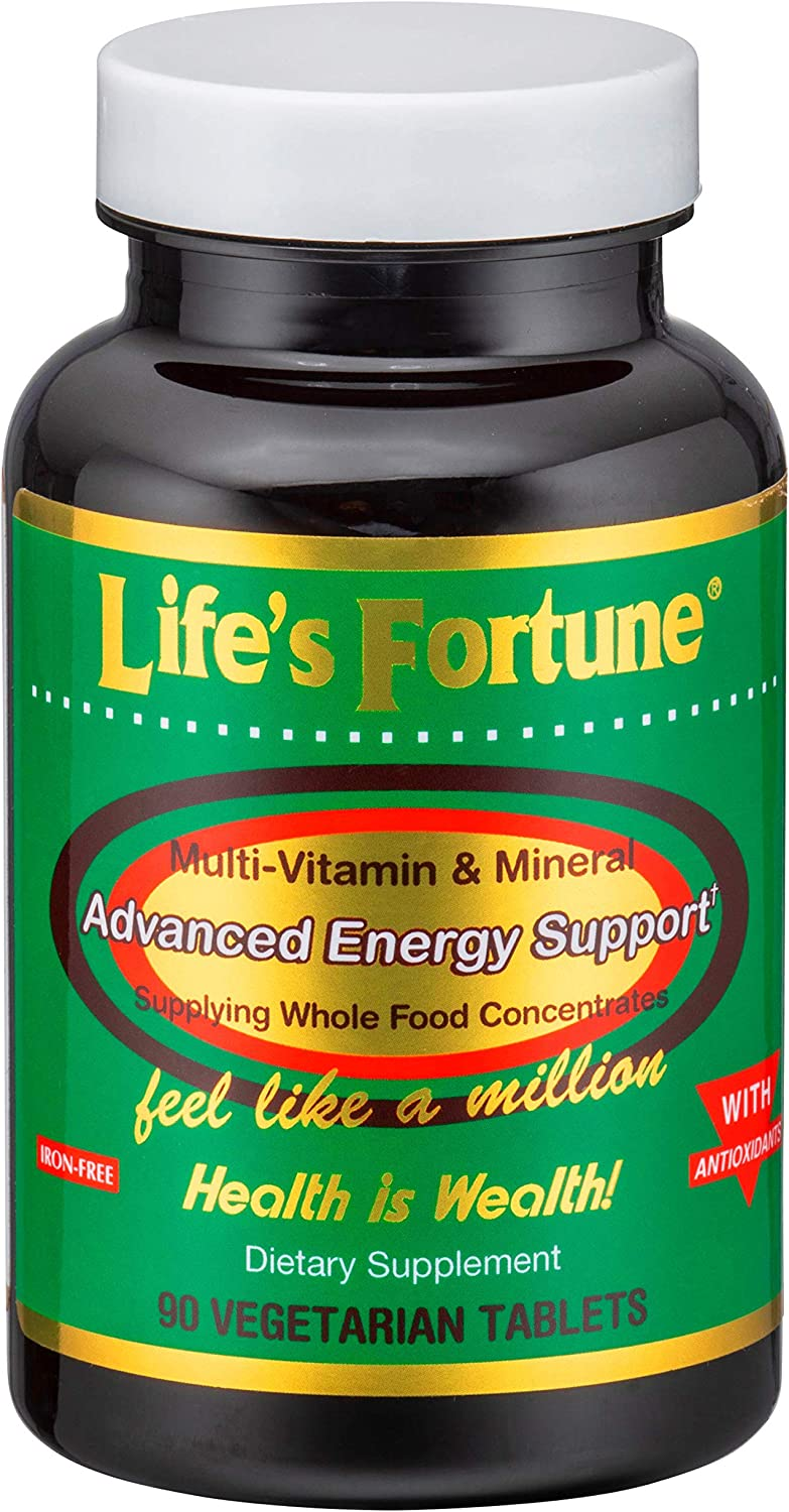 Life s Fortune Multivitamin Mineral 90 Tablets, All Natural Energy Source Supplying Whole Food Concentrates, Antioxidants, Amino Acids, Enzymes, Trace Minerals All Daily Essential Vitamins