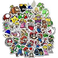 Meetlight Super Mario Sticker Cartoon Waterdichte Sticker voor Waterfles Laptop Telefoon Fiets Motorfiets Bumper Bagage…
