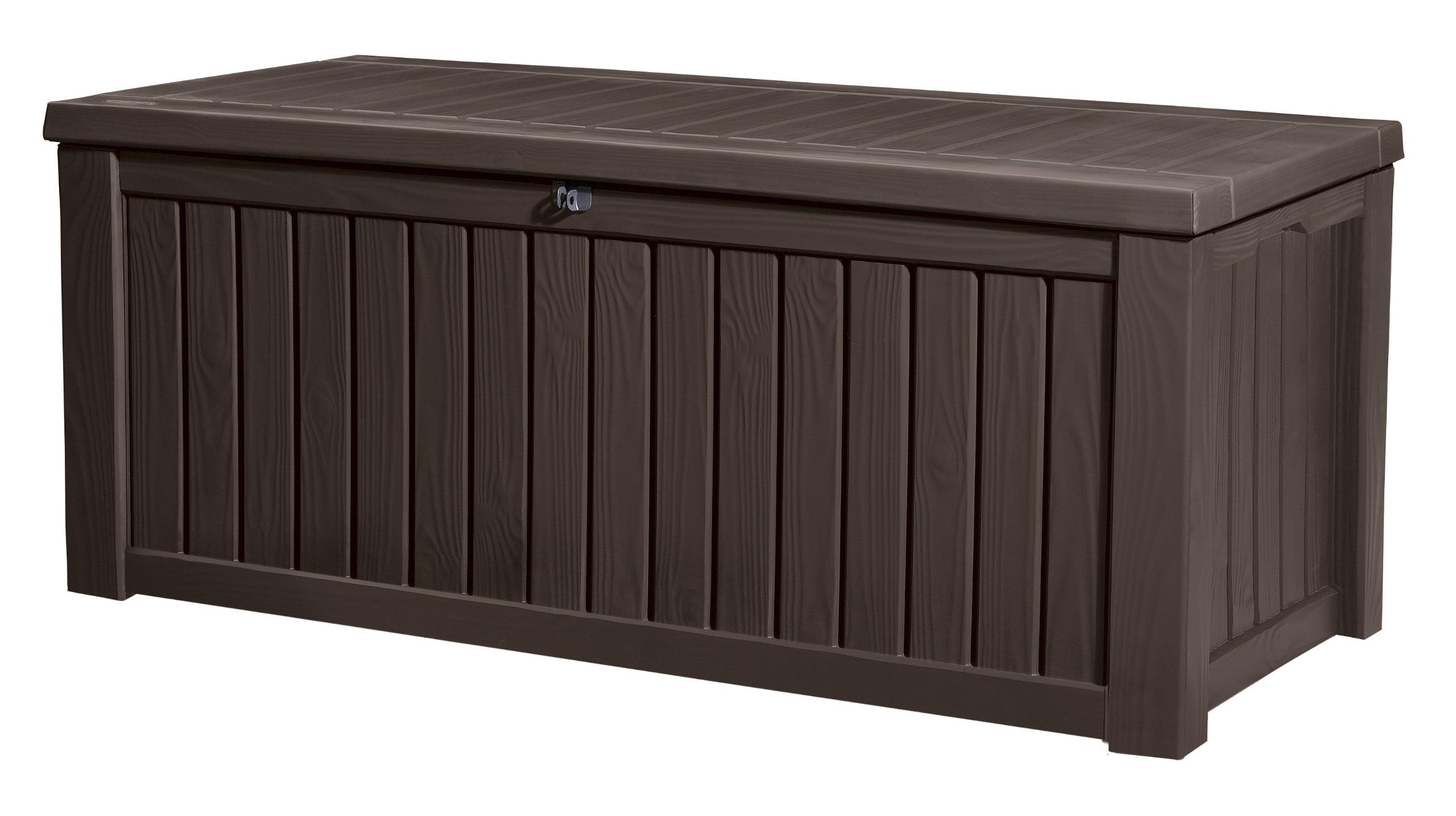 Keter - Arcón exterior Rockwood. Capacidad 570 litros. Color marrón product image