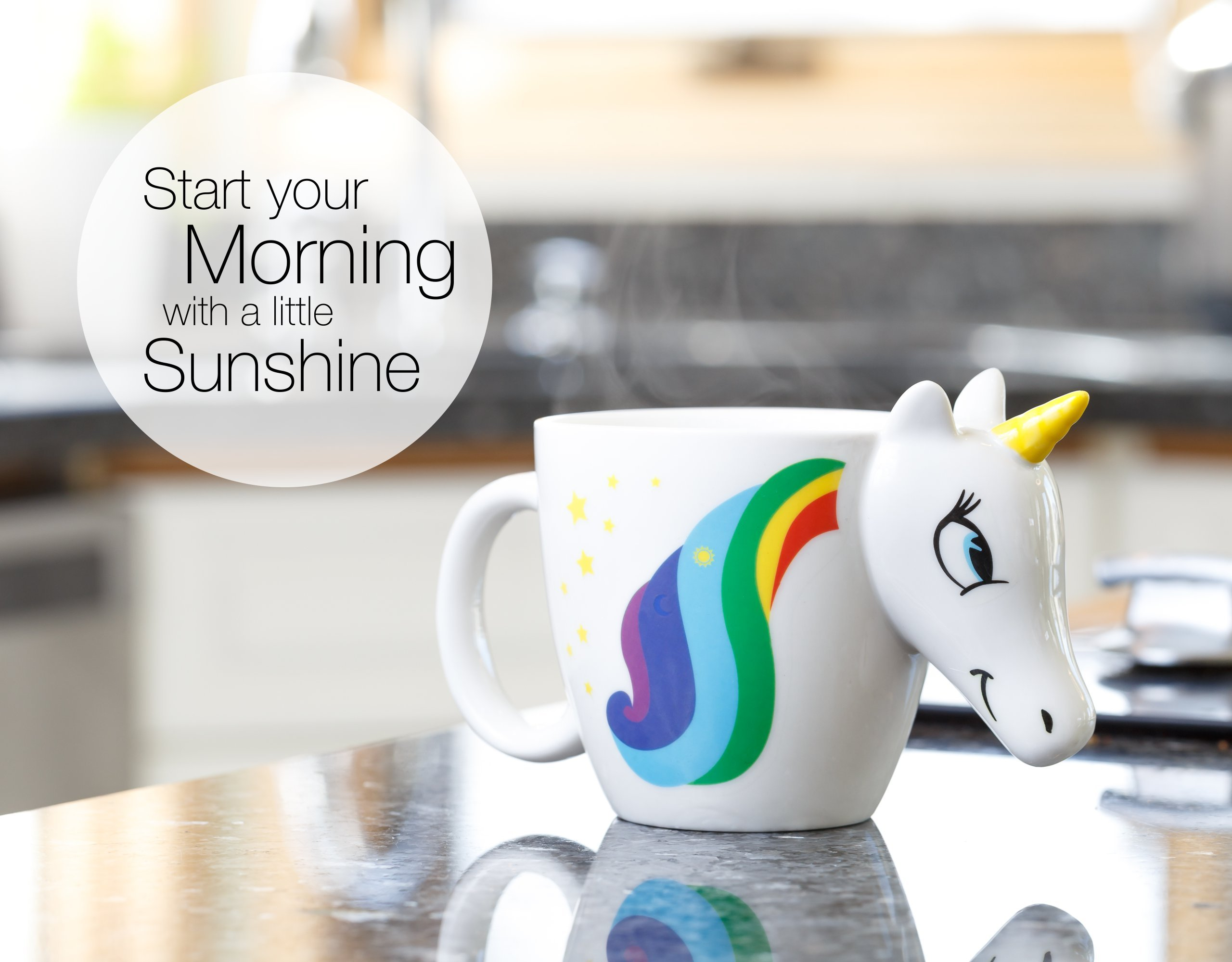 Color Changing Unicorn Mug - 3D Coffee Mugs Rainbow Design, Your morning cup of coffee or tea will never be the same… 9