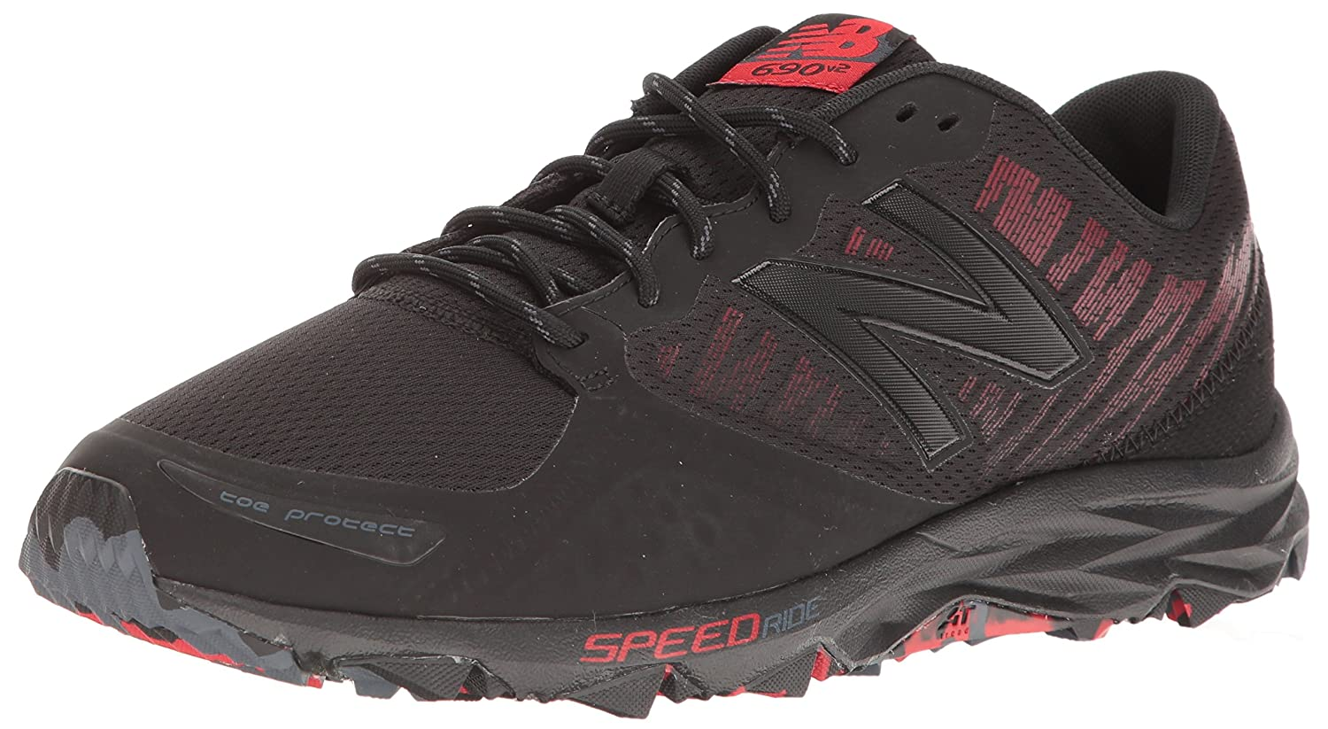New Balance Men's MT690v2 Responsive Trail Running Shoe B01LZ9DUDH 9 4E US|Black/Alpha Red