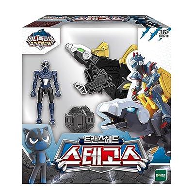MINI FORCE Miniforce Trans Head Stegos Super Dinosaur Power Stegosaurus Action Figure Toy: Toys & Games