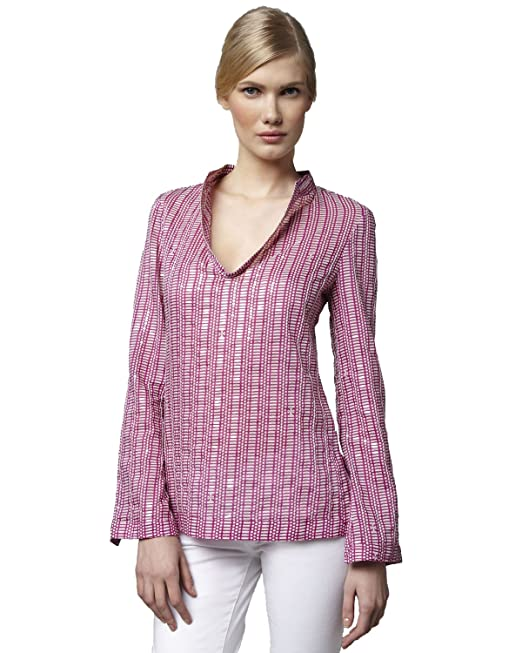 dc0c277f53c Tory Burch, Stephanie Printed Tunic, Wild Orchid, Size 14: Amazon.ca:  Clothing & Accessories