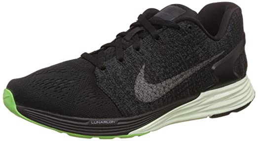 low priced 05595 f5661 ... purchase nike womens wmns lunarglide 7 lb black metallic pewter  anthracite barely green c43e0 c7642