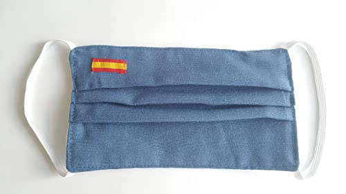 Color azul para hombre bandera de España doble tela: Amazon.es: Handmade
