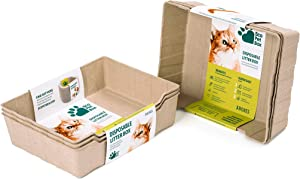 Enviro Works Eco Pet Box | Disposable Cat Litter Box | Litter Tray | Travel Litter Box | Biodegradable | Leak Free | (6 Pack)