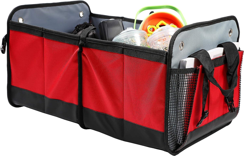 gro/ß ordentlich 2-in-1 faltbar REALMAX/® Kofferraum-Organizer robust Einkaufstasche f/ür SUV Minivan LKW faltbar Zuhause Reisen Kofferraum tragbar geringes Gewicht langlebig